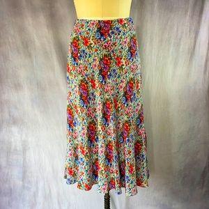 Beaded Silk Crêpe Skirt